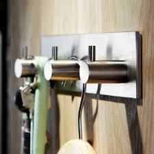3m self adhesive hook 304 stainless steel key rack 3 hook rail