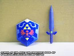 Master Sword Papercraft - ninjatoes papercraft weblog papercraft legend of the