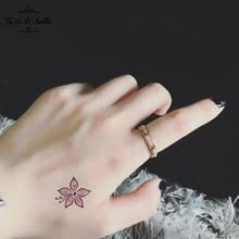 buy flower tattoos small and get free shipping on aliexpress com