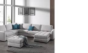 canapé panoramique canape panoramique en tissu gris hcommehome