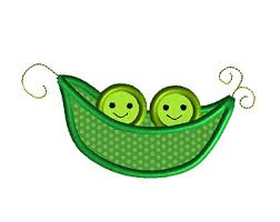 2 peas in a pod pea pod applique etsy