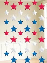 4th Of July Bunting Decorations Patriotic Fabric Bunting July 4th Party Decor Hanging Decoration