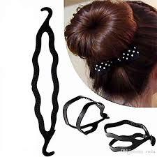 bun maker magic hair pony maker plastic hair styling bun maker shaper