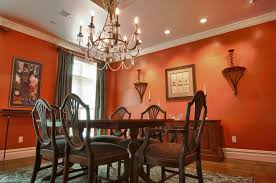 warm color scheme interior design tips dining room orange