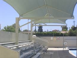 Pergola Shade Covers by Cantilever Bleacher Shade Canopy 1