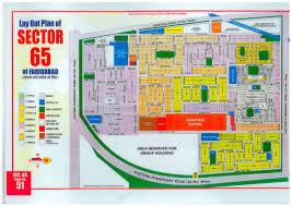 Sec Map Faridabad Huda Sector 65 Map Master Plans India