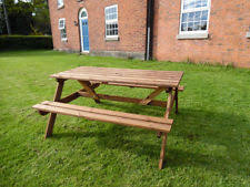 wooden table and bench wooden bench table ebay