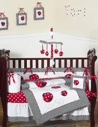 Ladybug Crib Bedding Set White Ladybug Polka Dot Baby Bedding And 9pc Set By Jojo Designs