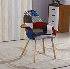 vintage patchwork armchair furniture retro modern fabric chair