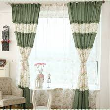 green floral shabby chic curtains