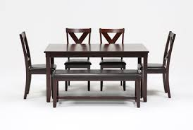Living Spaces Kitchen Tables by Dakota 6 Piece Dining Set Living Spaces