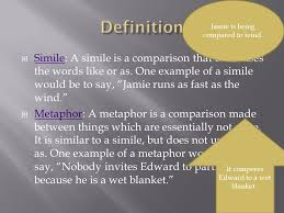 simile a simile is a comparison that often uses the words like or