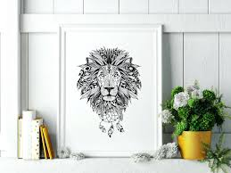 wall ideas lion king wall art full size lion king wall art