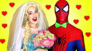 spiderman u0026 frozen elsa u0027s dream wedding ft hulk funny superhero