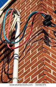 some loose hydro wires made red stock photo 54482371 shutterstock