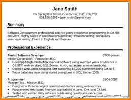 Professional Summary Resume Examples For Software Developer 7 Summary Resume Samples Foot Volley Mania