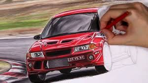 mitsubishi evo drawing mitsubishi evo 6 5 tommi makinen edition australia a3 size car