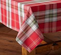 newbury plaid tablecloth pottery barn