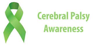 cerebral palsy ribbon celebrating cerebral palsy awareness month