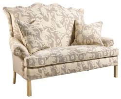 traditional sofa beziers french country farm animals upholstered small sofa