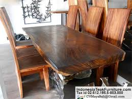 natural wood kitchen table and chairs dining table bali crafts com