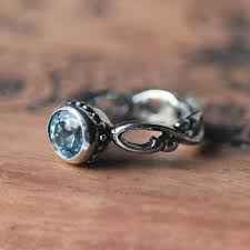 artisan engagement rings blue aquamarine ring march birthstone infinity engagement ring
