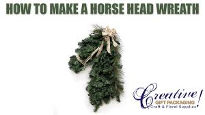 how to make a horse head wreath for christmas or the kentucky