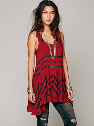 free people voile and lace trapeze slip in red lyst
