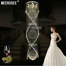Chandeliers Lighting Fixtures Long Spiral Crystal Chandelier Light Fixture For Hotel Lobby