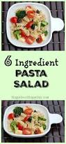 easy pasta salad 6 ingredient easy pasta salad recipe happy deal happy day