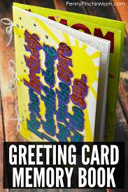 Book Birthday Card Greeting Card Memory Book Baby Shower Or Wedding Idea