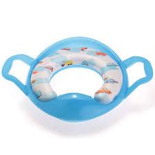 siege toilette bleu siege pot reducteur de toilette lunette wc avec poignee pour