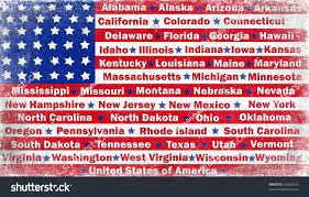 Ga State Flags Textured American Flag State Names Stock Illustration 54362653