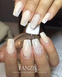 70 stunning glitter nail designs blush pink silver glitter