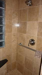 Tiled Shower Ideas by Bathroom Intersting Bathrooms Look Using Travertine Tile Shower