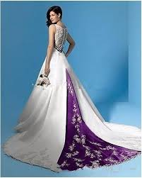 purple white wedding dress buy purple and white wedding dresses and get free shipping on