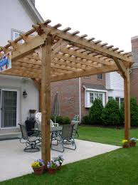 White Vinyl Pergola Kits by Pergola Design Ideas Attached Pergola Kits Vinyl Pergolas Attached