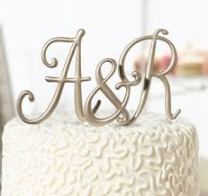 wedding cake toppers letters monogram cake topper monogram letter cake topper