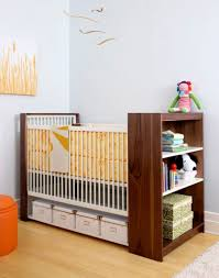 Baby Storage Baby Nursery Organized With Under Boxes And Crib With Shelves