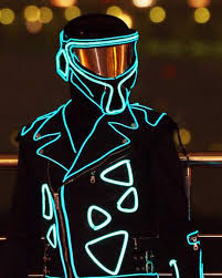 iluminate like tron king led robot costume night club party edm