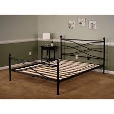 soho full size metal bed frame in black hbedsoho fl