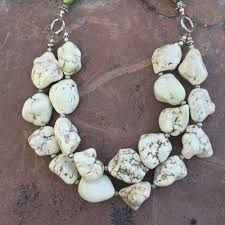 white turquoise necklace images Green and white turquoise necklace looly handmade jpg