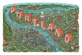Portland On Map by Illustrated Map Of Portland Or On Behance