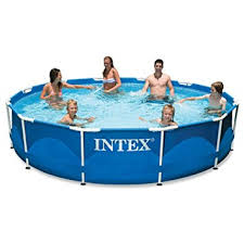 amazon com intex 12ft x 30in metal frame pool set with filter