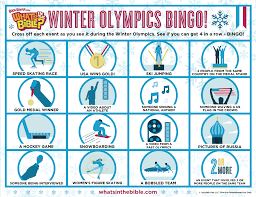 free winter olympics activities coloring page u0026 bingo