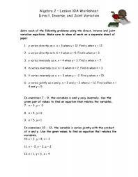 inverse variation worksheet free worksheets library download and