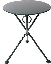 Black Bistro Table Furniture Designhouse 28 U0027 Round Folding Bistro Table