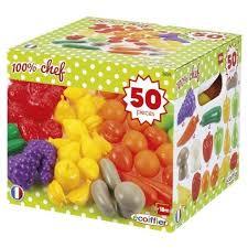 cuisine ecoiffier 18 mois ecoiffier chef pack 50 fruits et légumes achat vente dinette