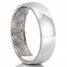 mens rings with images Fingerprint wedding band men 39 s fingerprint on inside of wedding band jpg