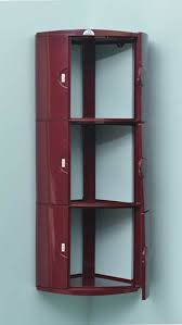 nilkamal 3 door corner cabinet maroon u2013 homegenic